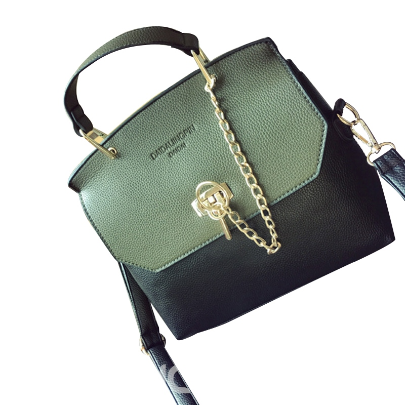 Ericdress Color Block Chain Lock Design Crossbody Bag
