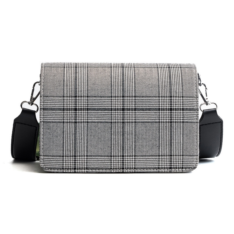 Ericdress Concise Wide Straps Plaid Crossbody Bag