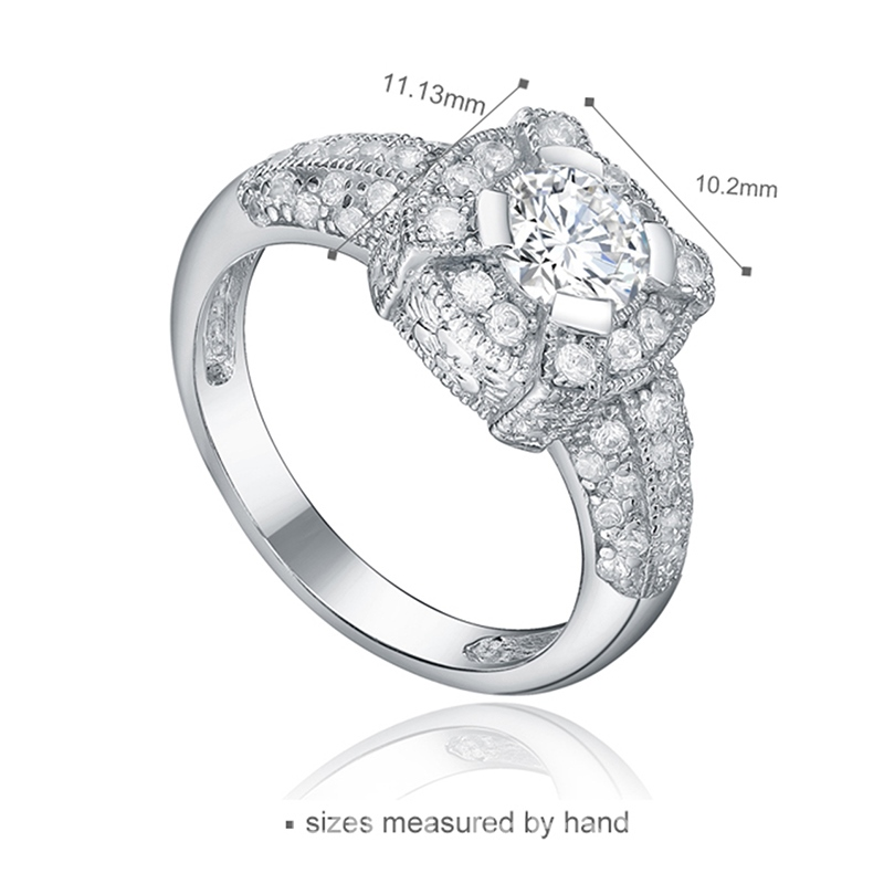MarkChic High Quality Fully-Jewelled Women's Wedding Ring