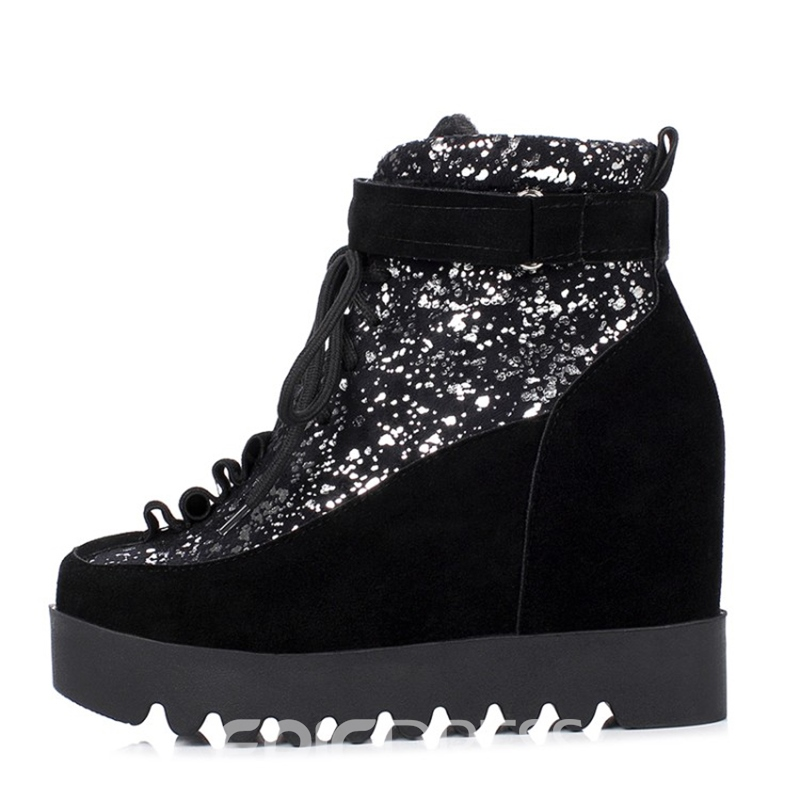 Ericdress Fashion Sequin Platform Ankle Boots
