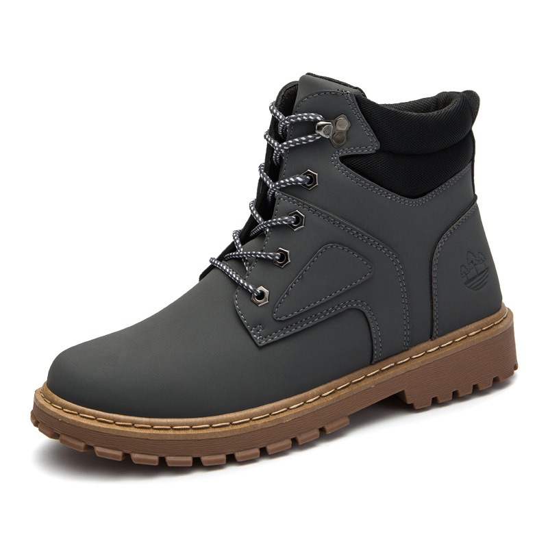 Ericdress Classic Color Block Round Toe Men's Boots