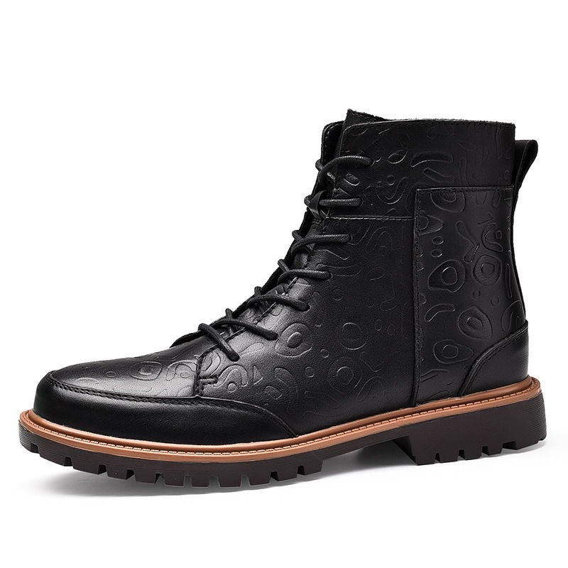 Ericdress Popular Plain Lace-Up Men's Martin Boots