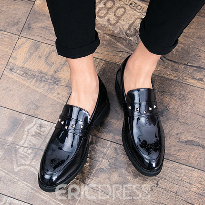 Ericdress New Style Rivet Slip-On Plain Men's Oxfords