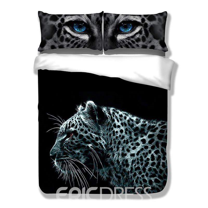 Vivilinen 3D Leopard Printed Polyester 3-Piece Bedding Sets/Duvet Covers