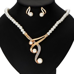 Ericdress High Quality Imitation Pearl 2-Piece Jewelry Set for Women thumbnail