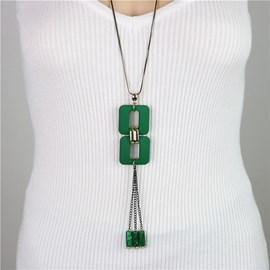 Ericdress Vintage Bohemia Style Long Sweater Necklace
