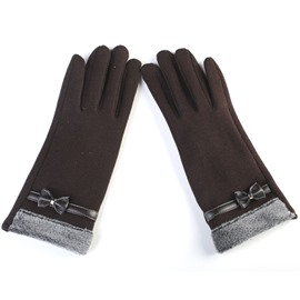 Ericdress Exquisite Bowtie Touchscreen All Match Women's Gloves