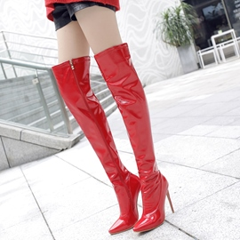 Ericdress Fashion Pointed Toe Plain Thigh High Boots