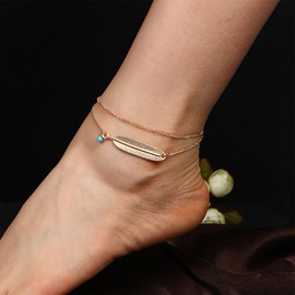 Ericdress Bohemia Double Layer Feather Anklet for Women