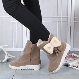 Ericdress Bowknot Decorated Slip-On Women's Snow Boots