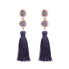 Ericdress Exquisite Tassel Ultra Violet Earring