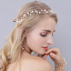 Ericdress High-End Imitation Pearl Tie Hair Accessories