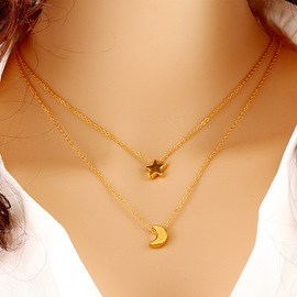 Ericdress All Match Elegant Star&Moon Pendant Necklace