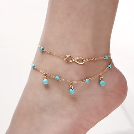 Ericdress Number 8 Turquoise Pendant Women's Anklet