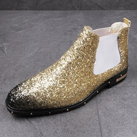 Ericdress Glitterring Rivet Round Toe Men's Boots