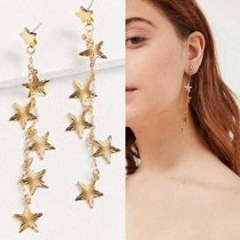 Ericdress Five-Pointed Star Pendant Women's Earring