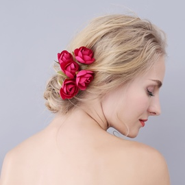 Ericdress Pure Color Rose Hair Accessories for Women