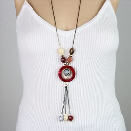 Ericdress National Style Long Tassel Women's Sweater Necklace