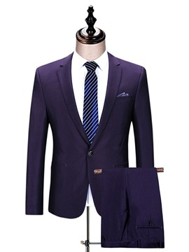 Ericdress Plain One Button Classic Slim Men's Casual Suit