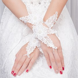 Ericdress Lace Flower Wedding Gloves