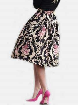 Ericdress High-Waist A-Line Floral Print Women's Skirt