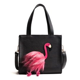 Ericdress Creative Swan Decoration Zipper Shoulder Bag