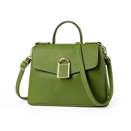 Ericdress Ladylike Solid Color Latch Decoration Crossbody Bag