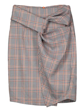 High-Waist Plaid Pleated Knee-Length Women's Skirt