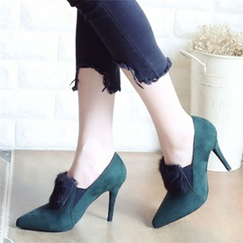 Ericdress Graceful Suede Pointed Toe Stiletto Heel Ankle Boots