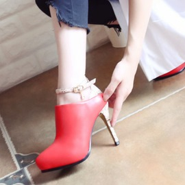 Ericdress Fashion Serpentine Color Block Platform High Heel Boots