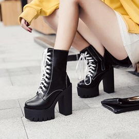 Ericdress Fashion Cross Strap Platform High Heel Boots