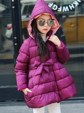 Ericdress Bowknot Princess Hemline Girl's Down Jacket