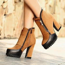 Ericdress Color Block Platform Patchwork High Heel Boots