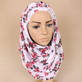 Ericdress Muslim Floral Scarf for Women