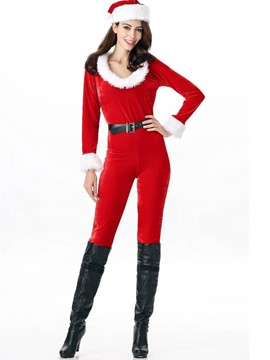 Ericdress Christmas Slim Plain Women's Jumpsuit