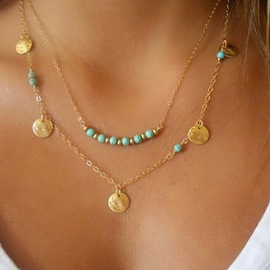 Ericdress Turquoise Double Layer Jewelry Necklace