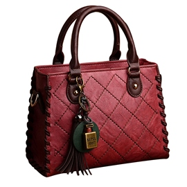 Ericdress Quilted Lining Tassel Design Zipper Handbag