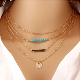 Ericdress Turquoise Chic Multilayer Necklace