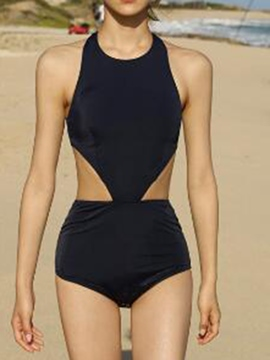 Ericdress Sexy Black Backless Monokini