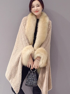 Ericdress Loose Feather Cape Coat