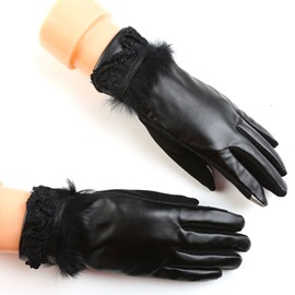 Ericdress High Quality Leather Lace Women's Gloves