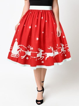 Ericdress Christmas Pleated Women's Ball Gown