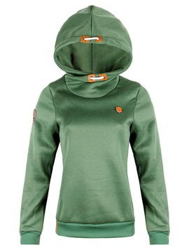 Ericdress Slim Plain Fleece Cool Hoodie
