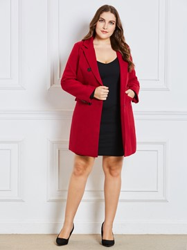 Ericdress Slim Notched Lapel Double-Breasted Coat
