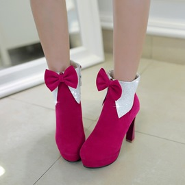 Ericdress Bowknot Decorated Platform High Heel Boots