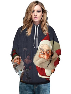 Ericdress Loose Christmas Santa Claus Cool Hoodie