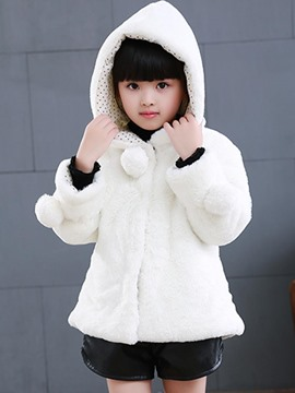 Ericdress Thick Hooded Hidden Button Winter Jacket