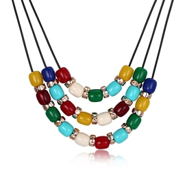 Ericdress Hot Three Layer Beads Women's Necklace