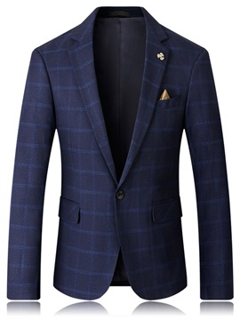 Ericdress Plaid Single-Breasted Business Slim Men's Blazer