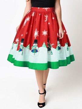 Ericdress Christmas High-Waist Women's Ball Gown